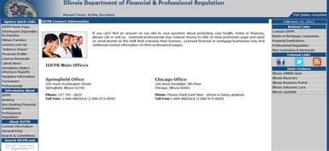 Office Of Financial Regulation by Illinois Department Of Financial And Professional