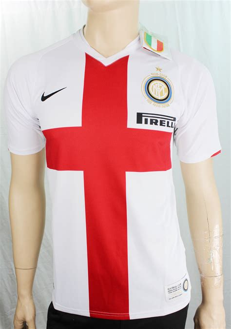 Jersey Ac Milan Away Centenary fc inter milan nike football jersey shirt white away 2007 08 centenary