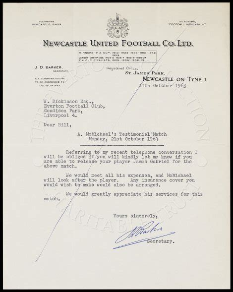Reference Letter Number letter with other club the everton collection