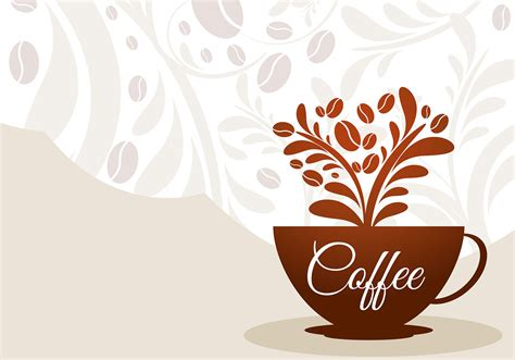 Coffee Cup Floral Vector   Download Free Vector Art, Stock
