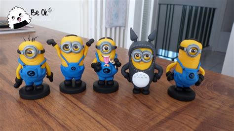 Modelling Clay Minion Phil minions and totoro fan fimo by beokcreations on deviantart