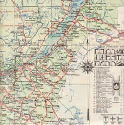 1933 tourist road map 171 o canada