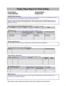 template of a report weekly status report or project status report for week