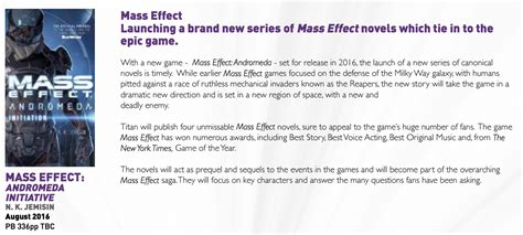 mass effect initiation mass effect andromeda books mass effect novel series connects original trilogy to