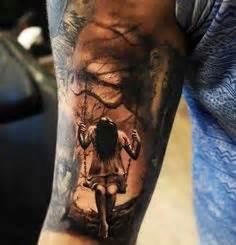 tattoo girl on swing skull and swing tattoo tatueringar och inspiration