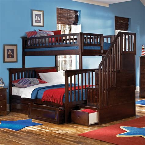 cottage style white finish wood kids full panel bedroom cherry bunk beds oak wooden bunk beds bb19333a vaughan