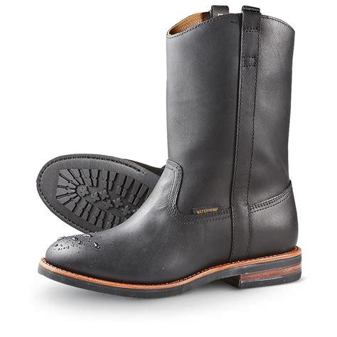 mens dan post boots s dan post boots 174 work ropers black 195416 cowboy