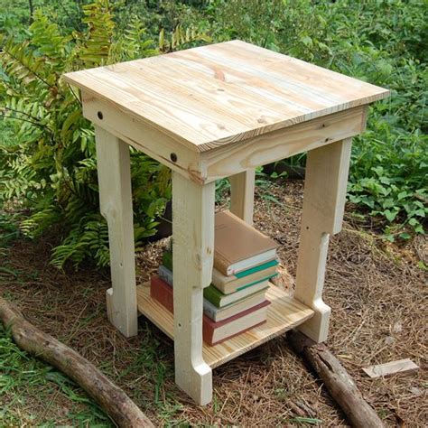 pallet end table recycled side table nightstand end table pallet
