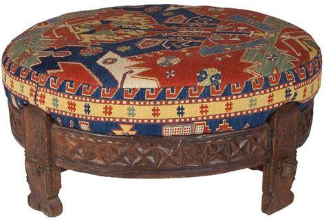 traditional ottoman afghan sumac kilim grain wheel ottoman based on a traditional grain wheel used to store rice