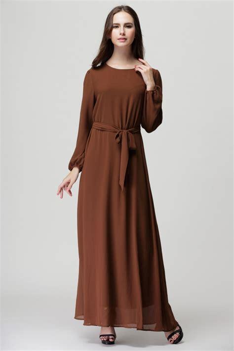 Dress Wanita Maxi Dress Muslim Canada Maxi kaftan abaya jilbab islamic muslim bow sleeve vintage maxi dress ebay
