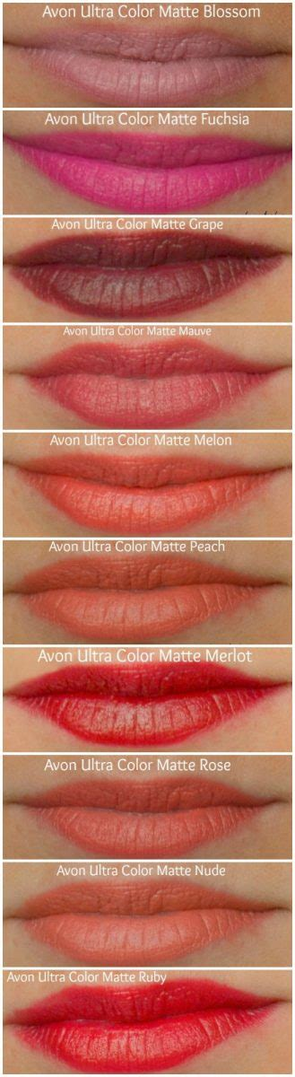 Lipstick Rossa Lasts Matte Lip avon ultra color matte lipstick swatches by miss l