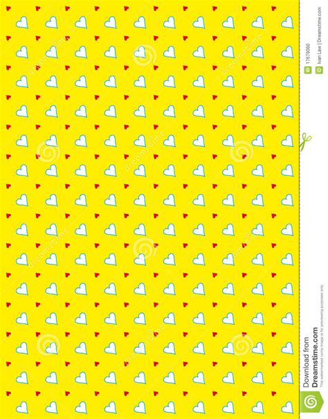 yellow heart pattern heart pattern background yellow stock photo image 17679060
