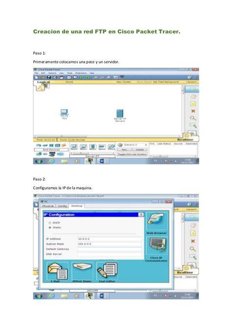 tutorial redes cisco packet tracer creacion de una red ftp en cisco packet tracer