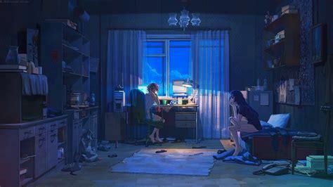3d lighting and compositing artist bedroom scene night scene 1920 215 1080 anime wallpapers hd pixelstalk net