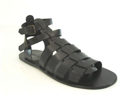 mens poste gladiator sandal black leather sandals ebay