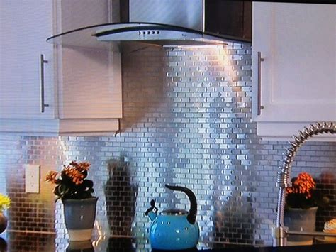 aluminum backsplash kitchen tin backsplash tin backsplash on property brothers