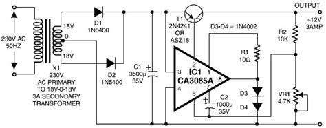 Switching Power Supply 12v 3a 12v 3a regulated power supply circuit