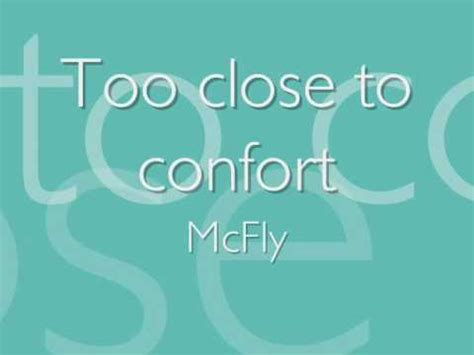 comfort en espanol too close for comfort mcfly en espa 241 ol traduccion