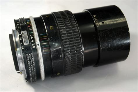 nikon nikkor 135mm f2 8 telephoto lens manual focus ai sn 752052 used a lot ebay