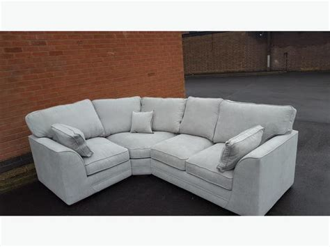 Large Brand New Light Grey Fabric Corner Sofa Can Deliver