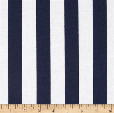 Navy Stripe 1 1 quot stripe navy discount designer fabric