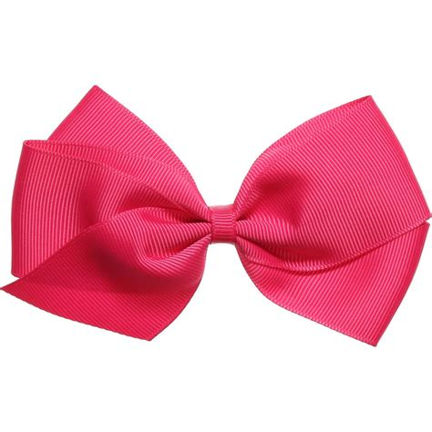 Hairclip Pink 1 ribbons fuchsia pink grosgrain bow hair clip 12cm childrensalon