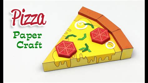 How To Make Paper And Craft - how to make a paper pizza paper craft for