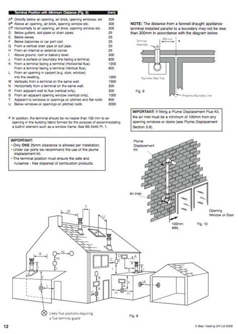 flue fans for open fires gas flue vent distance from window diynot forums