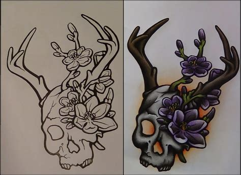 neo traditional tattoo designs the gallery for gt neo traditional skull tattoos