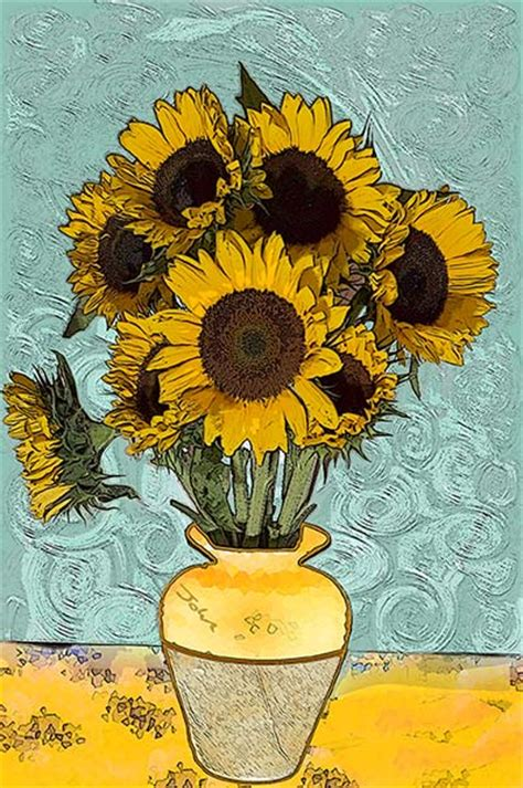 manufacturer famous sunflower painting famous sunflower taking in van gogh up close van gogh sunflowers and vans