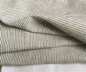 black and white ticking striped sheets set by