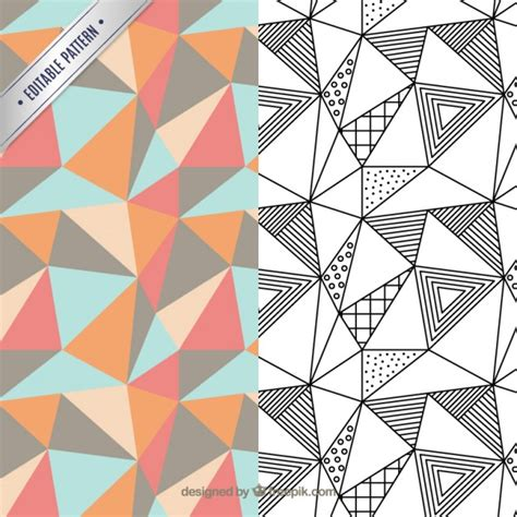 design pattern definition geometrisch patroon pack vector premium download