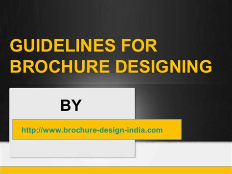 graphic design guidelines guidelines for brochure graphic design