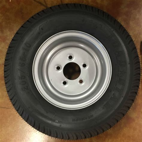 triton 09942 class c snowmobile trailer tires with aluminum rim pair 20 5 x 8 10 205 65 10 class c snowmobile trailer tire