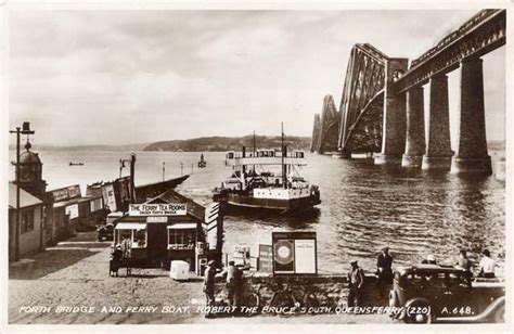 queensferry ferry boat the forth rail bridge and the ferry boat queen margaret
