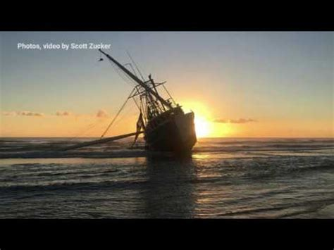 shrimp boat in ormond beach 77 foot shrimp boat runs aground on ormond beach youtube