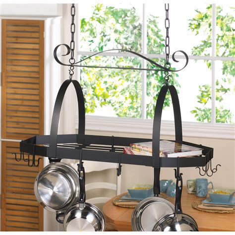 Rack For Pots To Hang In Kitchen Octagonal Hanging 12 Hook Kitchen Pot Or Cookware Rack