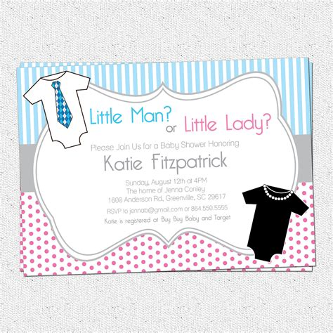 baby shower for both sexes gender neutral reveal baby shower invitations printable