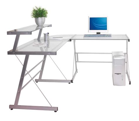 Corner Glass Desk Glass Corner Desk For Home Office