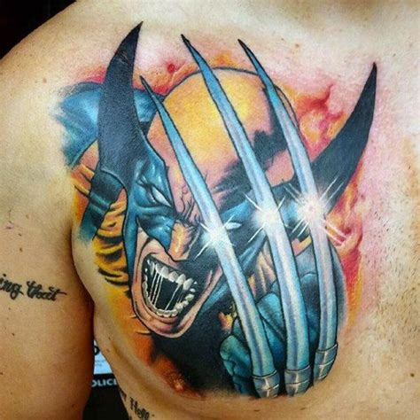 3d Tattoo Wolverine | 90 wolverine tattoo designs for men x men ink ideas