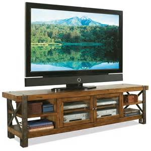 Furniture rustic tv stand console table with bookshelf and storage
