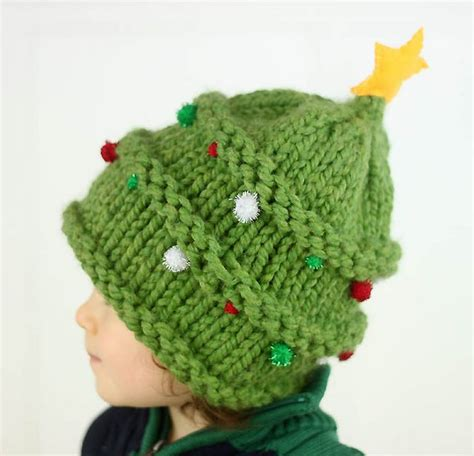 baby christmas tree hat knitting pattern gina michele