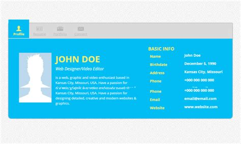 20 Best Free Html Resume Templates To Download Trendytheme Free Resume Templates Websites