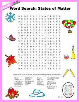 printable word search on matter 25 best ideas about science word search on pinterest