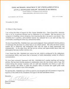 How To Write A Graduate Cover Letter by Recommendation Letter For Teaching Free Cover Letter Of