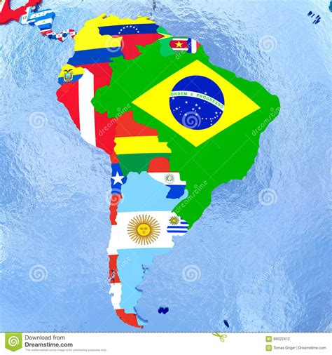 Banner Hbd Tomas Bunting Flag Hbd Tomas Banner Hbd Kartun Tomas south america on political globe with flags stock illustration image 88022412