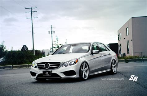 lowered mercedes 2014 mercedes e550 gets lowering springs and vossen wheels
