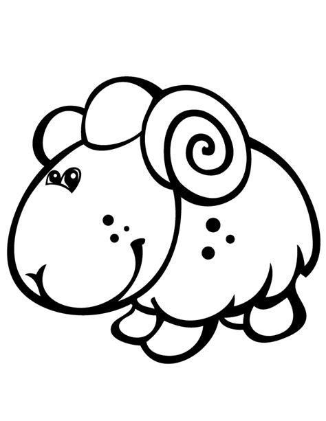 baby lamb coloring pages coloring home
