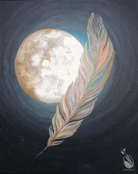 paint with a twist ocala moon and feather in gold wednesday january 6