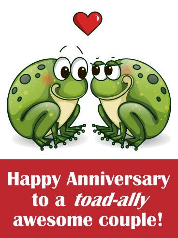 loving toad funny anniversary card birthday